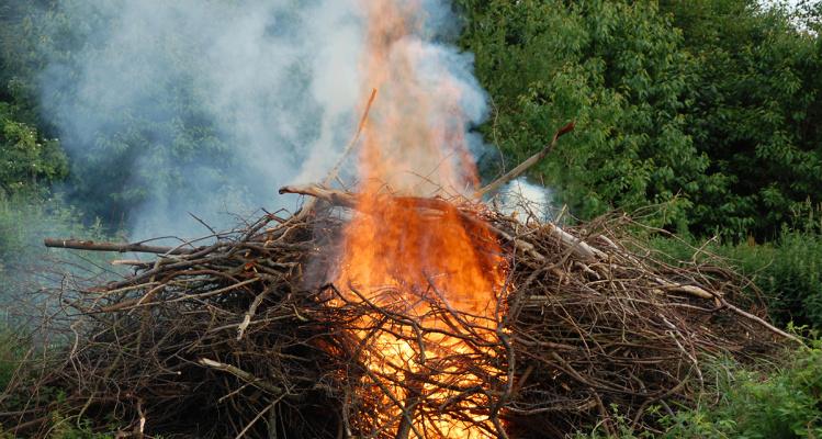 afbrænding af haveaffald