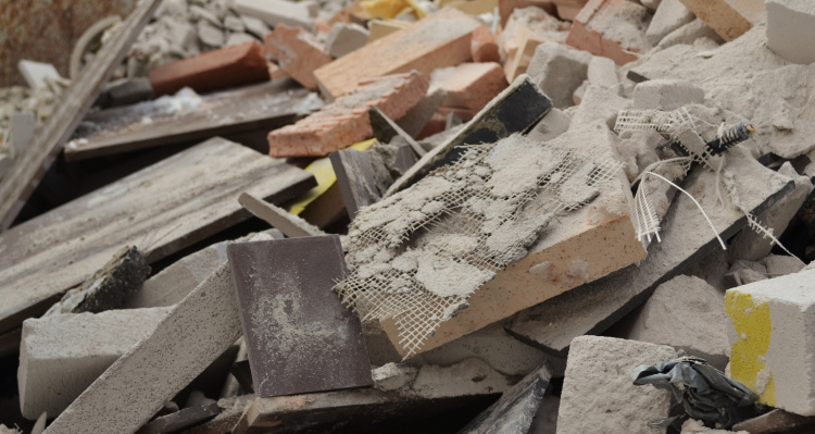 Billede af byggeaffald