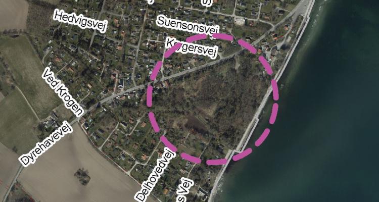 Placering af Strandparken